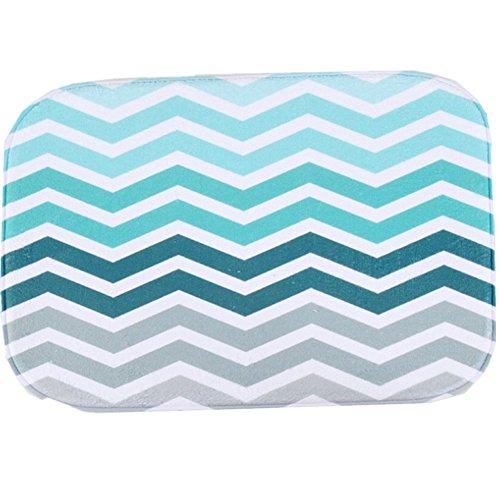 O-C Blue Waves Outdoor Indoor Antiskid Absorbent Bedroom Livingroom Bath Mat Bathroom Shower Rugs Doormats