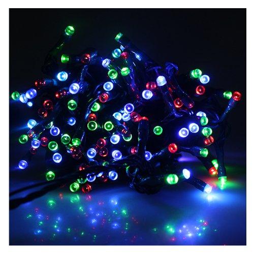 Luci LED Net, AGPtek® alimentata solare esterna LED String, energia solare 72ft / 22M 200 LED String fata luce esterna per veranda, giardino, Natale, Party, Matrimonio ( Multicolor )