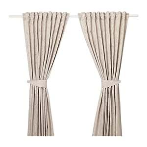 Ikea Lisabritt Rideaux avec embrasses 1 Paire Beige 503.967.15 ...