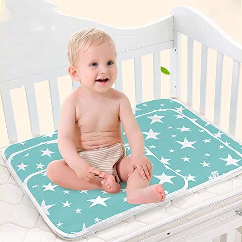 Alfombrilla impermeable para bebé de 50 cm x 70 cm con diseño de oso cambiador de funda 1 pieza Blue...