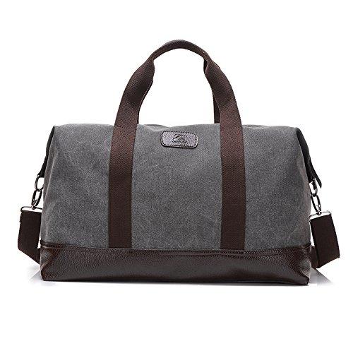 LKKLILY portable Mode Umhängetasche Canvas Bag Herren Große Kapazität, Outdoor, tragbare Reisetasche Grau grau