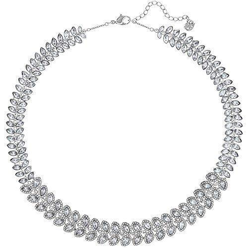 Swarovski Damen-Kragen Halskette Edelstahl Kristall 5117678