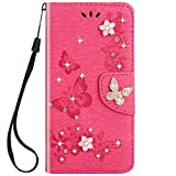 JAWSEU Coque Etui iPhone 6 Plus/6S Plus Brillante Bling Glitter Paillette à Rabat...