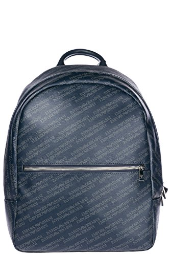 Emporio Armani Rucksack Herren Tasche Laptop Schulrucksack blu