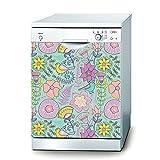 Decusto Flowers & Birds Wandtattoo für Spülmaschine