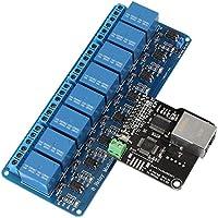 Módulo de Control de Ethernet LAN WAN Network Servidor WEB Puerto RJ45 + Relé de 8 Canales para Control Remoto de Dispositivos Inteligente