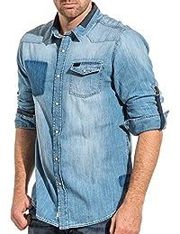 90590c6a6bd2 Amazon.fr   Deeluxe - Chemises casual   Chemises   Vêtements