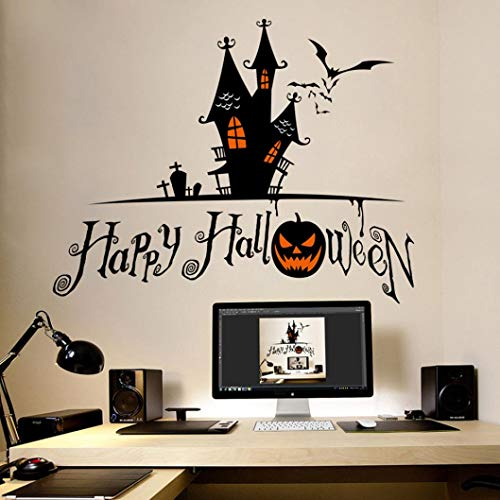Mitlfuny Happy Horror Halloween Party Dekor,Realistisch DIY Wandaufkleber Malen Wanddeko Wandkunst