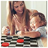 zaote Checkers Rug Game