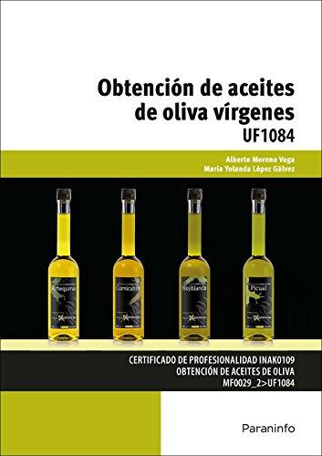 Portada del libro OBTENCION ACEITES DE OLIVA VIRGENES UF1084