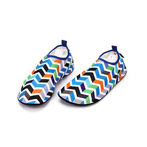 HYSENM Scarpa acquatico 360° Flessibile ergonomica asciugatura rapida suola antiscivolo per sport spiaggia piscina Surf condotta Yoga blu