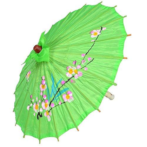 Little Sporter Tanzen chinesisch Stil Blume gedruckt Fuchsie Nylon Abdeckung Mini Sonnenschirm