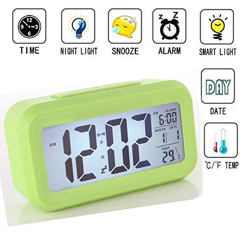 Wecker Digital, TKSTAR Großer HD Bildschirm Intelligente Nachtlicht Wecker Alarm Clock Für Kinder Jugendliche Einfache Mode Junge LED Hintergrundbeleuchtung Display LCD Digital Elektronische Wecker