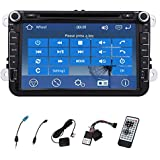 NEW Model 8 INCH In-dash Car DVD Player stereo Radio For Volkswagen VW Jetta Golf Skoda Passat Seat Head Unit+Canbus��Free 4GB GPS Card & US CANADA Map GPS Bluetooth ipod touch screen vechicle video