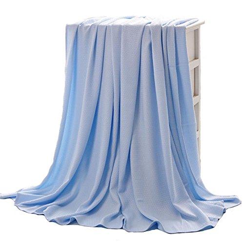 Kühle Haut-ersatz (Bambusdecke, Baby Bambusdecke, Bambusfaser Sommer Klimaanlage Kühle Decke Baby Erwachsene Unisex Dünne Steppdecke (Blau))