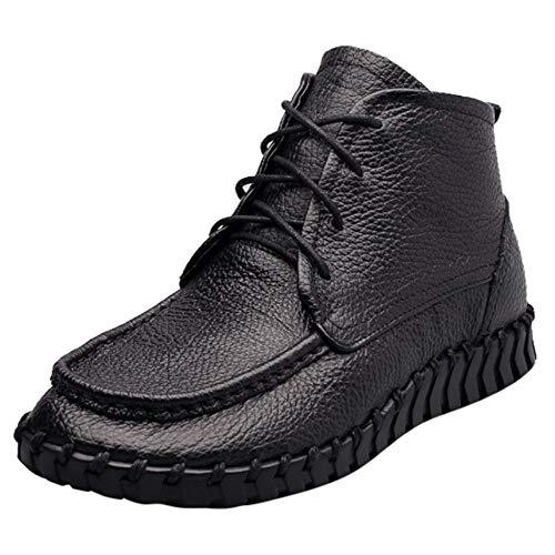 Niedrige Stiefel,Oliviavan high Heels Chelsea Boots Damen Stiefeletten Schwarz Lederschuhe Schuhe der einfachen ledernen Schuhe der einzelnen ()