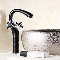 Hign Olio strofinato bronzo bagno rubinetto miscelatore per lavabo colore