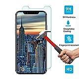Huhuswwbin Pellicola Protettiva, 5D Full Cover/Anti-Scratch/Anti-Shatter/Premium Pellicola Proteggi Schermo in Vetro temperato per Apple iPhone X (10) - Trasparente iPhone X