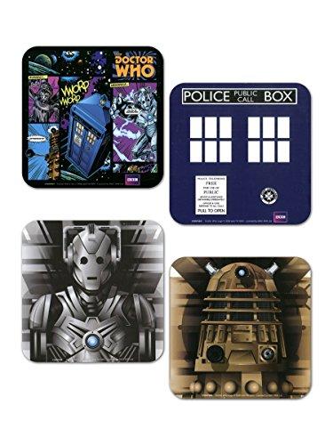 Doctor Who Set 4 pz Sottobicchiere standard