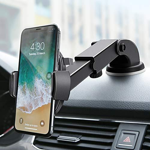 FLOVEME Handyhalter fürs Auto Mit Saugnapf für Armaturenbrett & Windschutzscheibe, 2 in 1 Universal Handyhalterung Auto, 360°KFZ Halterung für iPhone 7 8 X XR XS Plus Samsung S8 S9 S7 Note 8 9 usw.
