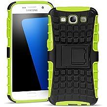 Samsung Galaxy S3 Outdoor Hülle Case in Grün Extra Schutz, Robuste Samsung Galaxy S3 Schutzhülle Handyhülle Cover Silikonhülle Rückschale
