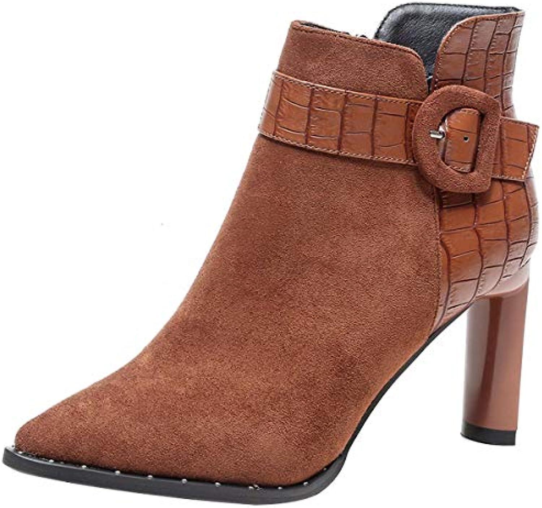 HBDLH Chaussures pour pour Chaussures femmes/9Cm Hauts Talons Bottes Pointcuts L'Automne Et l'hiver Wild Martin des Bottes Et...B07HFSH22YParent 90388d