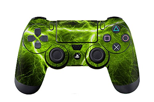 Morbuy Design PS4 Schutzfolie Skin Sticker Aufkleber Set styling für Sony Playstation 4 Controller X 1 ( Auch PS4 Slim & PS4 Pro ) (Lightning Green) (Miku Grün)