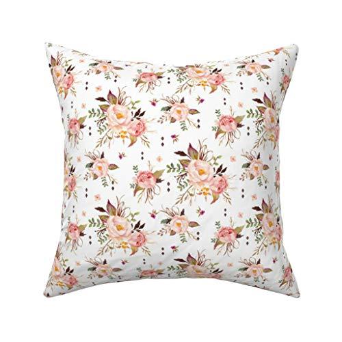 Pink Flowers Body Cream (Einst Blush Watercolor Floral Peach Pink Cream Flowers SmallKissenbezug Sofa Kissenbezug Home Decor 18 x 18 Zoll 45 x 45 cm)