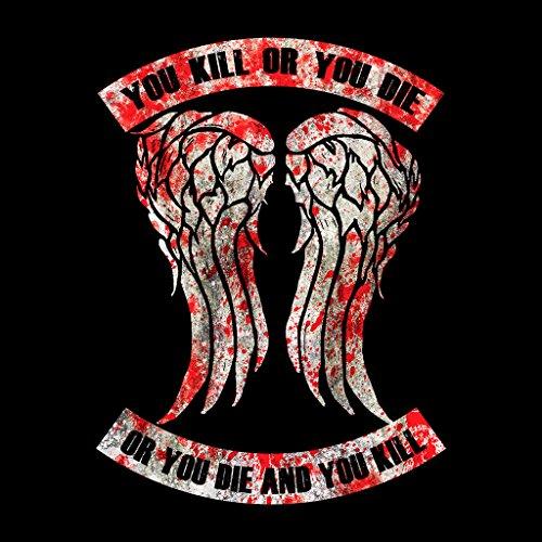 Walking Dead Kill Or Die Quote Blood Womens Sweatshirt Black