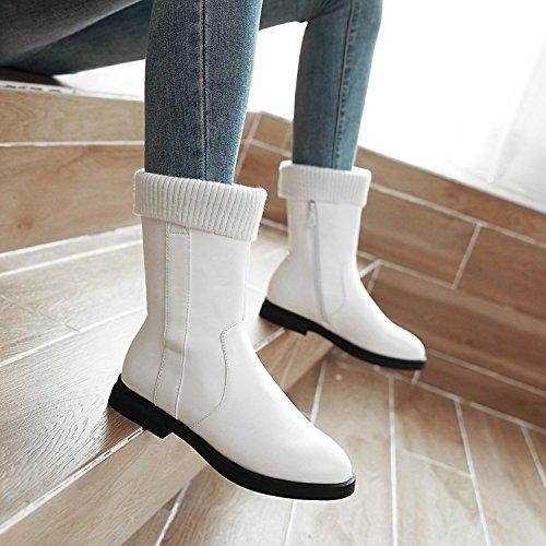 Inverno Per Alti nuovi Stivali Maglia Khskx Scarpe Le Trentacinque Bianco Onde Donne Grasse qxES6X