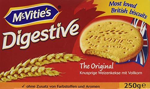 McVitie's Digestive (250 g) - knusprige Kekse aus Großbritannien - unvergleichlich leckere Bisquits nach traditioneller Rezeptur - Original