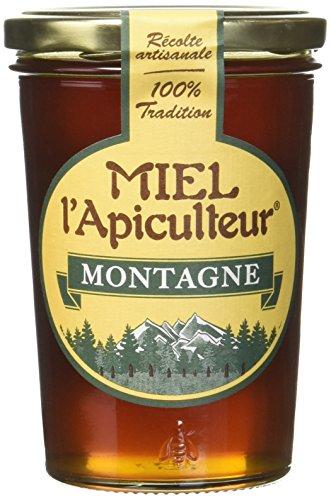 MIEL L'Apiculteur Miel de Montagne Pot Verre 500 g - Lot de 2