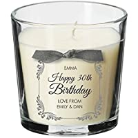 30th birthday present personalised gift candle gifts for women her men decorations party all ages