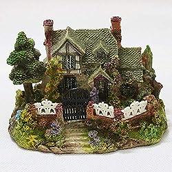 HSDDA Dekor Figur Aqua Landschaftsgestaltung Landschaftsgestaltung Ornament Zubehör Multi-Size Harz Villa Simulation Eine Packung Mit 1,12 * 9 * 9 cm Schreibtischdekoration (Größe : 12 * 9 * 9CM)
