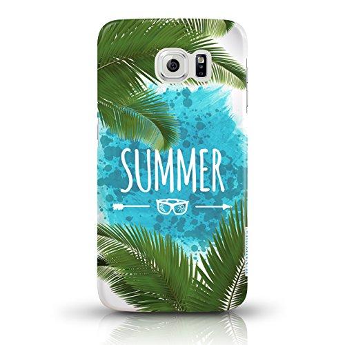 """JUNIWORDS Handyhüllen Slim Case für Samsung Galaxy S6 - Motiv """"Bunter Elefant schwarz"""" Schutzhülle für Ihr Smartphone Summer"""
