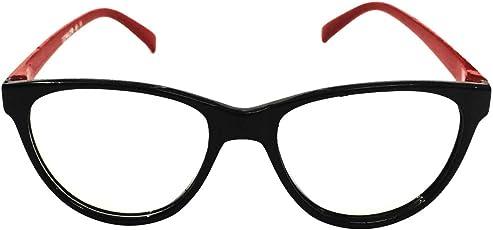FashioNext Cat Eye (Red-Black) Women & Girls Eyewear Frame (FTF5255)