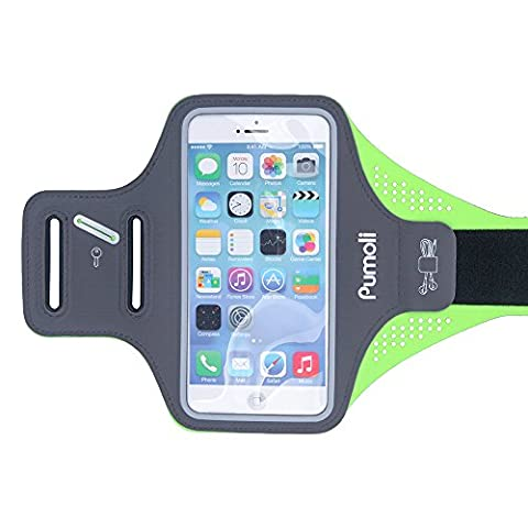 Pumoli Ultrathin Sports Running Armbands(5.5in)Mobile Phone Sweatproof Arm bands Fit