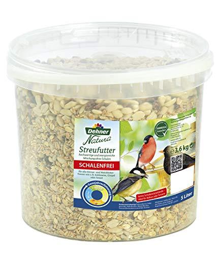 Dehner Natura Wildvogelfutter, schalenfreies Streufutter, 5 l (3.6 kg)