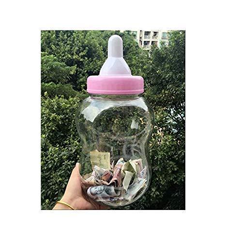 Gwill 38x16cm / 15.2''x 7.2 '' große Größe Piggy Cans Bank Milch geformte lustige Flasche mit Nippel Food Storage große Flasche für Baby-Dusche mit Schnuller Dekoration Familie Aufbewahrungsbox