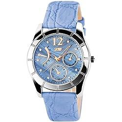 ufengke® elegant exquisite rhinestone numerals dress watch for ladies girls, strap calendar waterproof wrist watch,blue,decorative small dials