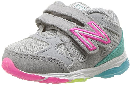 New Balance Unisex-Baby KV888V1I Kinder Schuhe, 24 EUR - Width XW, Silver Mink/Rainbow (Xw Balance Kinder New)