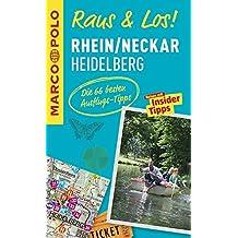 MARCO POLO Raus & Los! Rhein/Neckar, Heidelberg: Guide und große Erlebnis-Karte in praktischer Schutzhülle