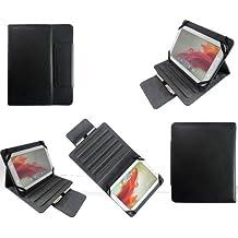 Housse universelle luxe tablette 8 pouces Ultra Slim Style cuir noire - Pochette de protection universelle Multi Stand pour : Samsung Galaxy Note 8.0, Archos 80 titanium, G9, XS, MPMAN MP843, MPDC8 BT, MPDC88...
