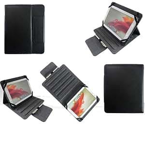 Universal tablet PC tasche 8 zoll Ultra Slim Leder Style Xeptio mit Ständer - Tasche Hülle Schutzhülle Case Cover für Samsung Galaxy Note 8 N5100 N5110, Samsung Galaxy Tab 3 8 inch - Acer Iconia A1-810, Odys Neo S 8 Plus, Neo X 8, Xpress/Xpress Pro, Vision, Technaxx Techtab, Intenso TAB814 5510862, Intenso Intab, Captiva Pad 8, Arnova 8 Home Tablet, I-onik tabletpc TP8-1200-metal, TP8-1000, TrekStor SurfTab Ventos 8.0, Blaupunkt Endeavour 800, Prestigio MultiPad 8.0 Pro Duo / 5080 PRO, Archos 80 Titanium... (Zubehör XEPTIO - PU Leder - schwarz - 3G/4G/Wifi/LTE)