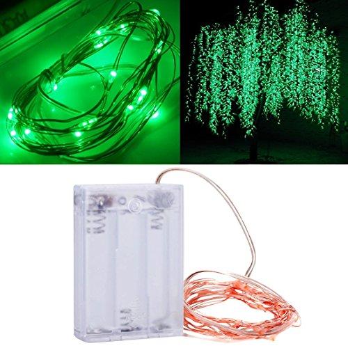 XFGBTJKYUT 3 x AA Batterien betrieben 100LM SMD-0603 LED Kupferdraht String Licht Festival Lampe/Dekoration Lichtleiste, rosa Licht, 2m (Artikelnummer : LED1121G)