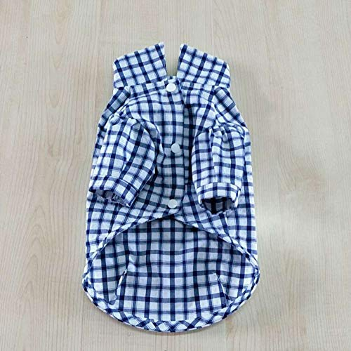 L Pet supplies Haustierbekleidung Baumwolle ärmelloses Kleid Prinzessin Pettiskirt Shirt Liebhaber Paar Teddy welpen Katze Hund Kleidung @ Blue_L -
