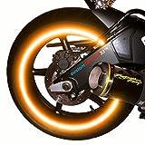 customTAYLOR33 (Alle Fahrzeuge Orange Hohe Intensität Reflektierend Sicherheit Felgenbänder, 15