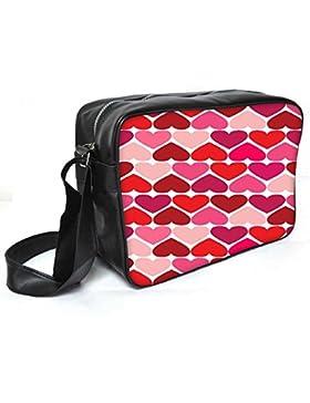 Snoogg Gegenteil Herzen Leder Unisex Messenger Bag für College Schule täglichen Gebrauch Tasche Material PU