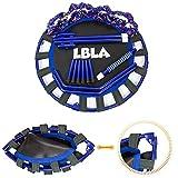 LBLA Kindertrampolin, Trampolin, mit verstellbarem Handlauf und gepolsterter Abdeckung Mini Faltbarer Bungee Rebounder, Innen- / Außentrampolin Maximale Gewicht Beträgt 60KG - 6