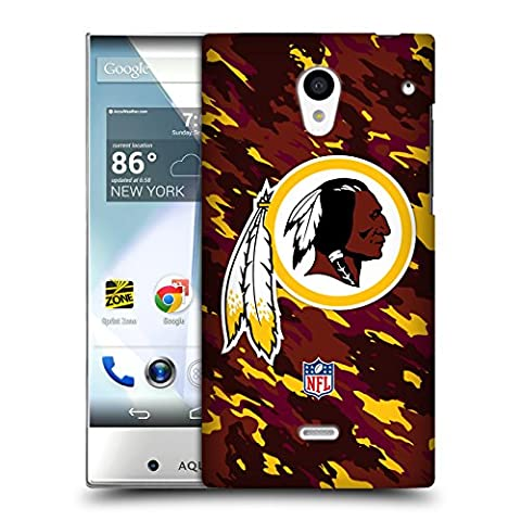 Official NFL Camou Washington Redskins Logo Hard Back Case for Sharp Aquos Crystal 305SH